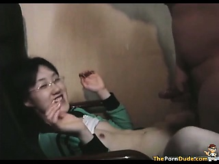Asian Virgin Fucks A Cock Be fitting of An obstacle First Time