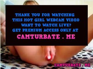 heavy natural tits webcam babe fucks a toy