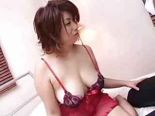 Japanese Busty Cougars Depending on Young Follower groupie