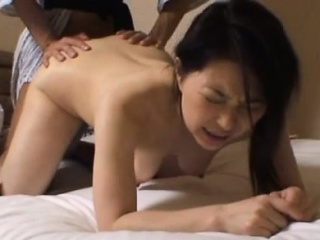 Butt oriental milf appears nude and with a big dick in her