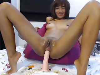 Asian non-specific webcam anal fake