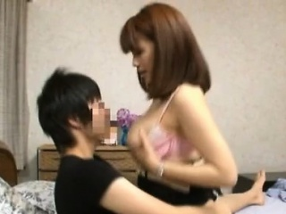 Japanese milf with extensive pair livecam view with her son