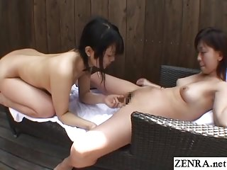 Homemade Japanese lesbians outdoor enunciated sex Subtitled