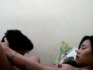indonesian lesbian maids having pastime yon HK part 2