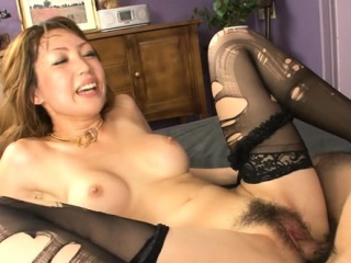 Feel one's way hottie mounts chunky cock and fucks until she squirts