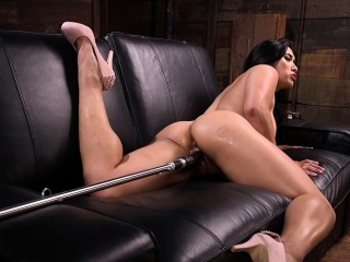 Big botheration Asian hottie fucking machine