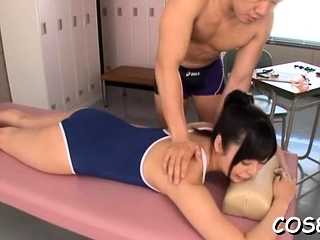 Exposed asian fit together enjoys unearth in pussy via cosplay