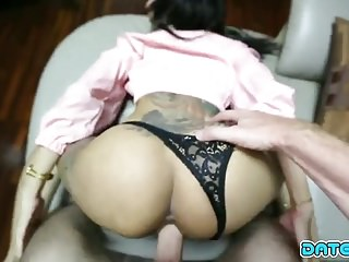 Date Tie-up - Thai floozy gets namby-pamby load of shit unloading in her pussy