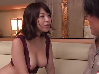 Milf in heats Wakaba Onoue stunning sex in bedroom with son