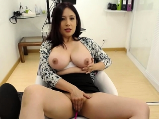 Asian webcam chick give yummie broad in the beam soul