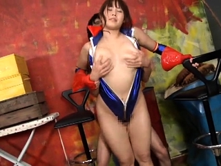 Asian slut with natural boobs gives palpate to hard pecker