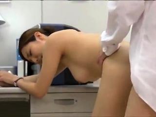 Doggystyle adorable Japanese interior masturbating