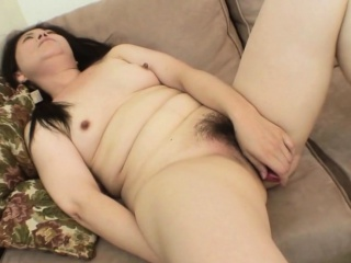 Asian hottie gets her hairy cunt disjointed