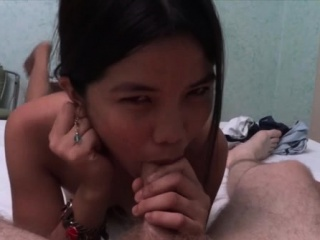 Asian playgirl gets pussy fondled