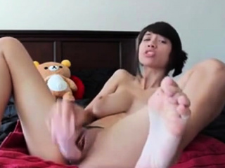 Horny Asian babe has a extreme plastic friend