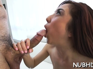 Pleasing redhead minx Mila Jade get fucked all round mouth