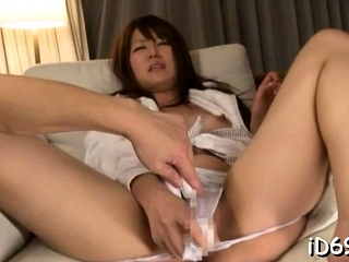 Shameless japanese lover is showing the brush nana and ass