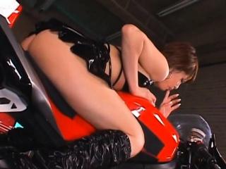 Fresh japanese Miori Hoshi enjoys a superb rear fuck