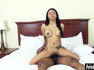 Her cunt makes a dick disappearance