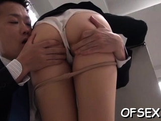 Lewd busty asian gf Azumi cums from huge dangler