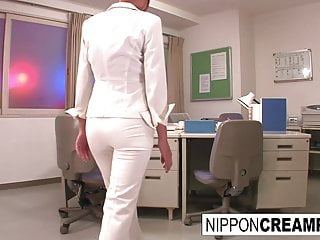 Young new office perpetrate gets initiated back two fixed cocks