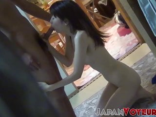 Tight Japanese teen bent over and banged adjacent to appetence