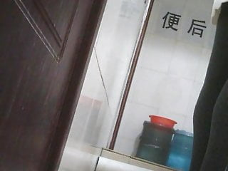 Chinese college students at the restroom 2