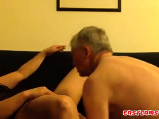 Mature Asian gets pussy licking