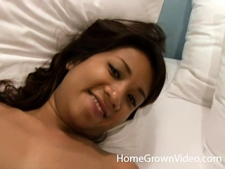 Nuch Spreads Her Hairy Pussy To Take Mr Happy's Cock - Nuch
