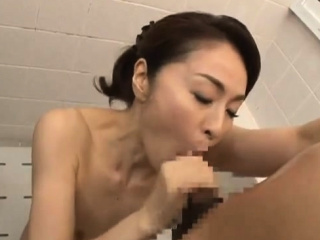 Asian Shower Leads To Four Simmering Sloppy Blowjob