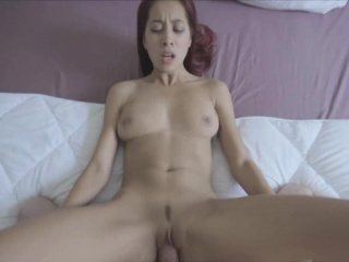 Redhead Asian girlfriend fucked hard