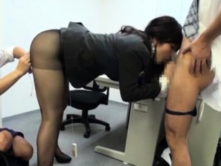 Very pretty office chick gets unbelievable sexual joy