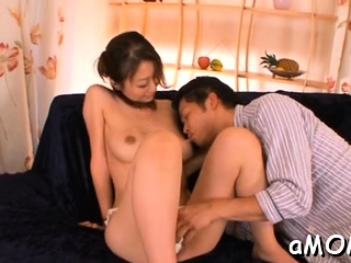 Magical busty exotic hottie Rei Aoki fucks increased by deepthroats