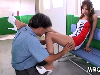 Fabulous nipponese Karen Kogure gets pink gash drilled