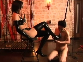 Latex femdom bdsm torture