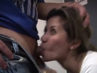 Happy doxy around a charming face gets fucked hard by a dude
