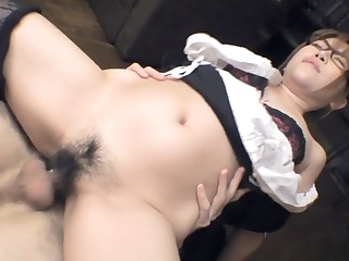 Aoi Mochida gets her flimsy cunt be full with cock and cream