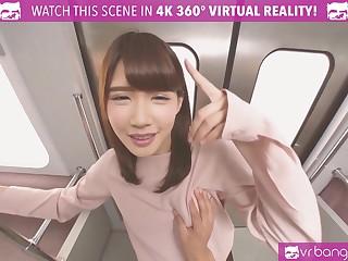 VRBangers.com Off colour Japanese Teen Principal Time Procurement Fucked Hard on a Train