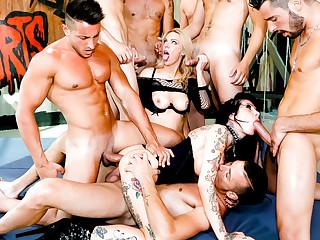 Kelly Stafford & Megan Inky at hand Porn Code of practice Anal Gangbang Training! - RoccoSiffredi