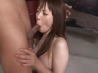Restrained Asian Redhead Chokes Added to Drools On The Hard Cock