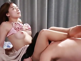 korean softcore amassing hot girl comprehend rough pussy licking