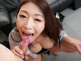 Reiko Kobayakawa in New office sprog Reiko Kobayakawa sucks her hotshot cock - JapanHDV