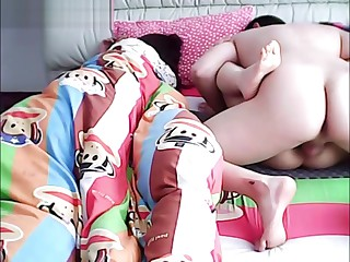 Chinese husband cheating on wed to the fullest extent a finally she is sleeping.