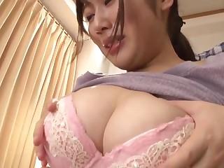 Japanese stepmom cares of descendant