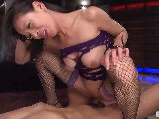 Masked MILF Begs be useful to Titty Teasing - Erito