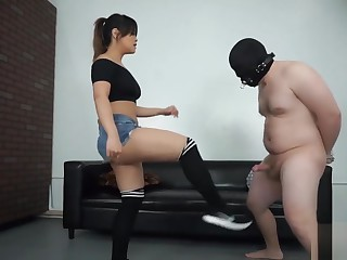 Sexy Asian Ballbusting In Sneakers
