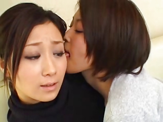 Kawai lesbian couple enjoying their love