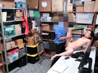 Two girls in the office increased by men blowjob LP officer rushed