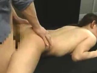 Beautiful Japanese unshaded sucks cock and fucks doggystyle