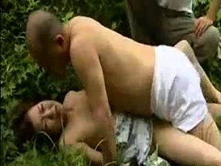 Seductive Asian milf has outdoor car sex